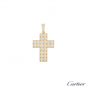 Cartier Diamond Cross Decor Pendant HP300029